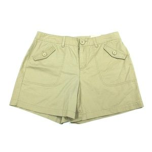 Bass Khaki Shorts Brown Tan Size 10 Mid Rise Chino